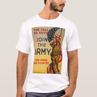A chamada ao dever - junte-se ao exército camiseta