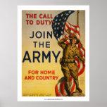 A chamada ao dever - junte-se ao exército poster
