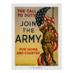 A chamada ao dever - junte-se ao exército posters