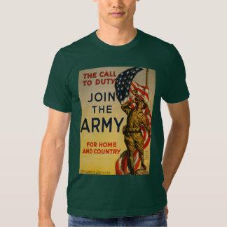 A chamada ao dever - junte-se ao exército t-shirt