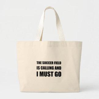 A chamada do campo de futebol deve ir bolsa tote grande