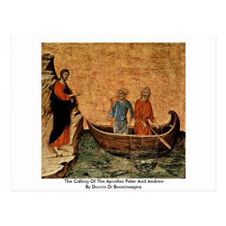 A chamada dos apóstolos Peter e Andrew Cartão Postal