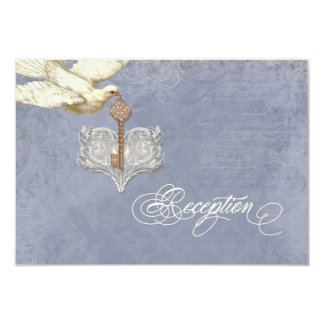 A chave a meu coração, cartão da recepção do convites personalizado