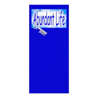 A chave à vida abundante v2 (10:10 de John) 10.16 X 22.86cm Panfleto