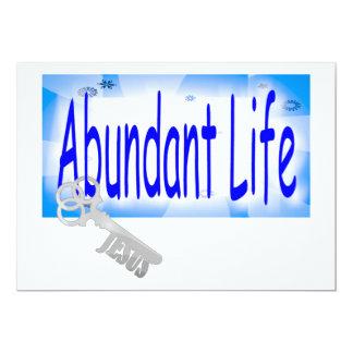 A chave à vida abundante v2 (10:10 de John) Convite 12.7 X 17.78cm