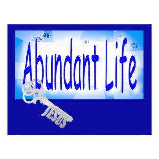 A chave à vida abundante v2 (10:10 de John) Panfleto Personalizado
