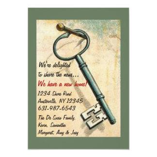 A chave - anúncio movente convite 12.7 x 17.78cm