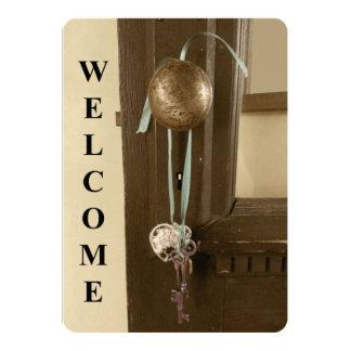 A chave de esqueleto & o Housewarming antigo da Convite 12.7 X 17.78cm