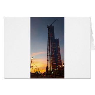 a cidade cartão comemorativo