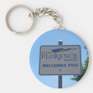A cidade de Florença dá-lhe boas-vindas! Keyring Chaveiro