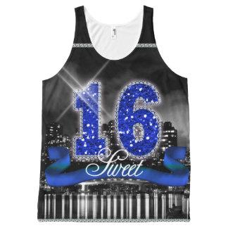 A cidade ilumina o doce 16 ID118 azul Regata Com Estampa Completa