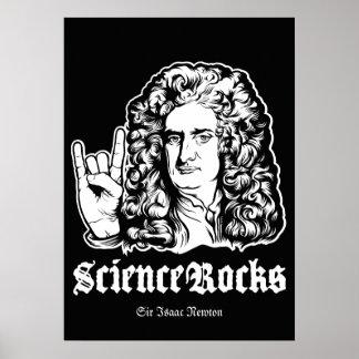 A ciência balança o poster do senhor Isaac Newton Pôster