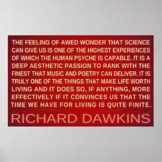 A ciência da maravilha de Richard Dawkins   dá-nos Poster