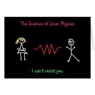 """""""A ciência do amor: Cartão da física"""" (fêmea -"""