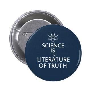 A ciência é a literatura da verdade boton