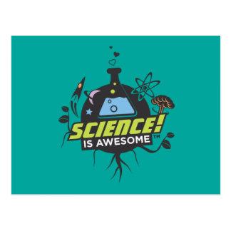 A ciência é impressionante cartão postal