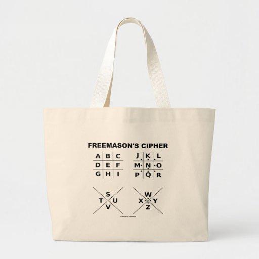 A cifra do Freemason (criptografia) Bolsas De Lona