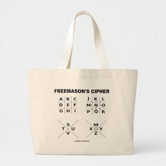 A cifra do Freemason (criptografia) Sacola Tote Jumbo