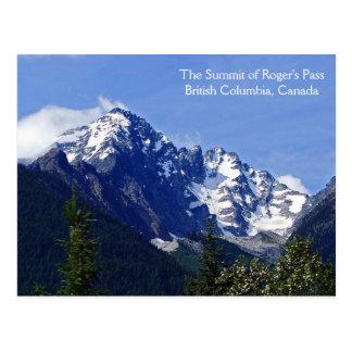 A cimeira do cartão da passagem de Roger