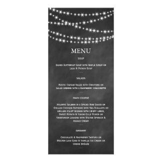A cintilação do quadro-negro ilumina o menu 10.16 x 22.86cm panfleto
