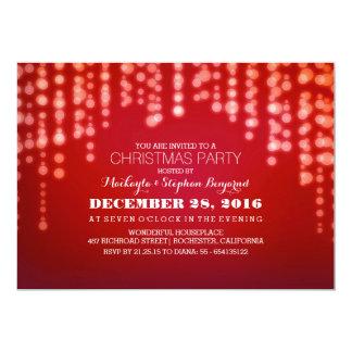 A cintilação ilumina a festa de Natal Convite 12.7 X 17.78cm