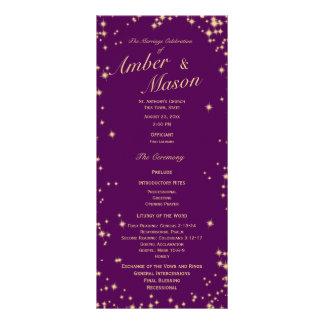 A cintilação Stars o roxo e a faísca do ouro 10.16 X 22.86cm Panfleto