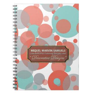 A cinza azul do pêssego borbulha caderno moderno