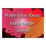 A cirurgia do joelho obtem logo corações bons cartoes