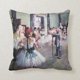 A classe de dança por Edgar Degas, arte do balé do Almofada