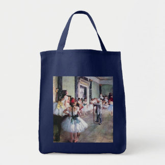 A classe de dança por Edgar Degas, balé do vintage Bolsa Para Compras