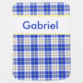 A cobertura personalizada de Gabriel Cobertorzinhos Para Bebe