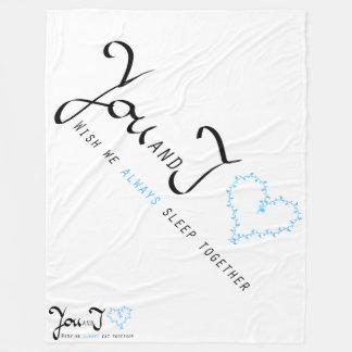 """""""A cobertura você e de I"""" expressa o amor para Cobertor De Lã"""