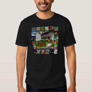 A colagem da família de peixes do desejo camiseta