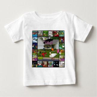 A colagem da família de peixes do desejo t-shirt
