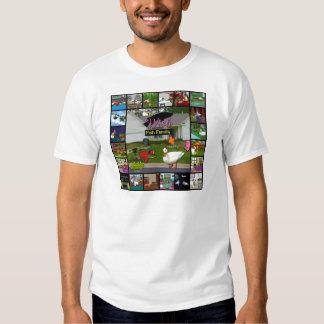 A colagem da família de peixes do desejo t-shirts