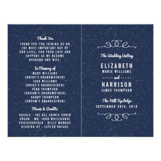 A coleção do casamento da noite estrelado - flyer 21.59 x 27.94cm