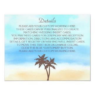 A coleção do casamento de praia da aguarela convite 10.79 x 13.97cm