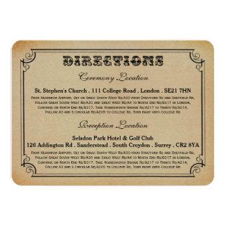 A coleção do casamento de Steampunk do Victorian Convite 11.30 X 15.87cm