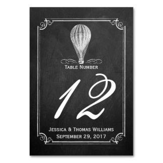 A coleção do casamento do balão de ar quente do cartão