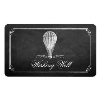 A coleção do casamento do balão de ar quente do cartão de visita