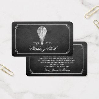 A coleção do casamento do balão de ar quente do cartão de visitas