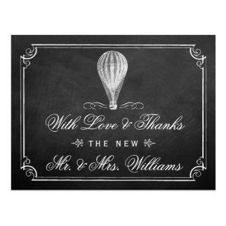 A coleção do casamento do balão de ar quente do cartão postal