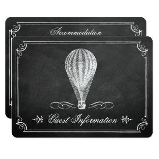A coleção do casamento do balão de ar quente do convite 11.30 x 15.87cm