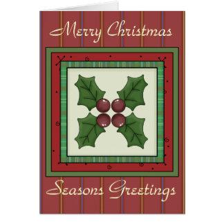 A coleção do Natal tempera o cartão de