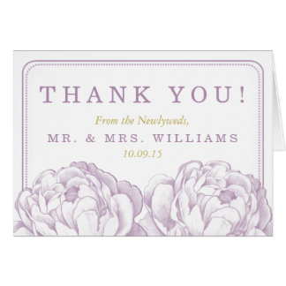 A coleção floral do casamento da peônia bonito cartão de nota