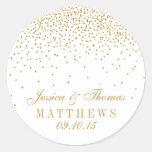 A coleção Glam do casamento dos confetes do ouro Adesivo