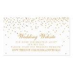 A coleção Glam do casamento dos confetes do ouro Cartão De Visita