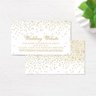 A coleção Glam do casamento dos confetes do ouro Cartão De Visitas