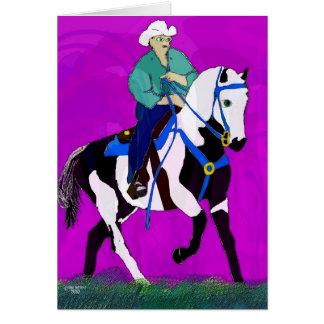 A coleção lunática do cavalo da pintura II Cartão Comemorativo