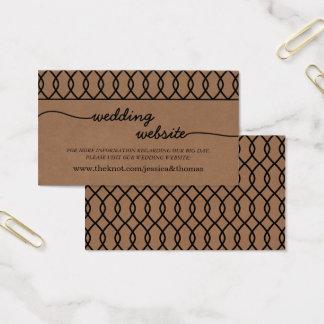 A coleção lunática moderna do casamento de Kraft Cartão De Visitas